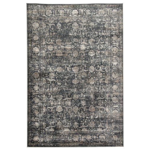 8.8' x 12' Gray and Ivory Transitional Rectangular Area Throw Rug - IMAGE 1
