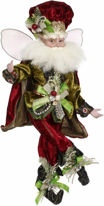 "16"" Red and Gold Mark Roberts Luxe Lodge Christmas Fairy Figurine - IMAGE 1"
