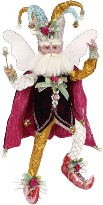 "20"" Pink and Gold Harlequin Mark Roberts Christmas Fairy Figurine - IMAGE 1"