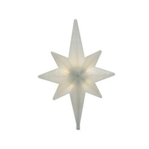 "14.5"" Warm White Winter Frost LED Bethlehem Star Christmas Tree Topper - Clear Lights - IMAGE 1"