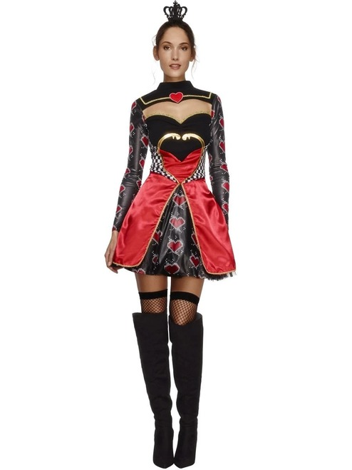 """40"""" Black and Red Queen of Hearts Women Adult Halloween Costume - Small - IMAGE 1"""