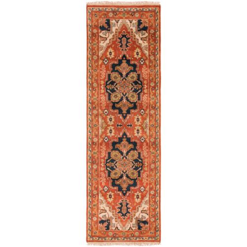 3' x 12' Traditional Style Brown and Gray New Zealand Wool Rectangular Area Throw Rug Runner - IMAGE 1
