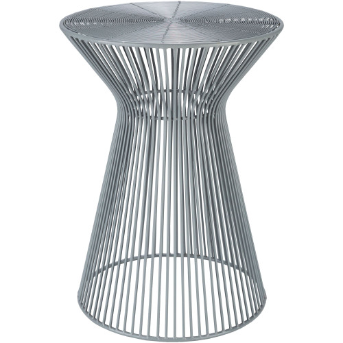 """18"""" Gray Contemporary Style Metal Decorative Accent Table - IMAGE 1"""