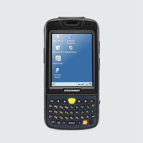 Windows CE C3000 Handheld Computer with Barcode Scanner, Cradle and Pistol Grip - IMAGE 1