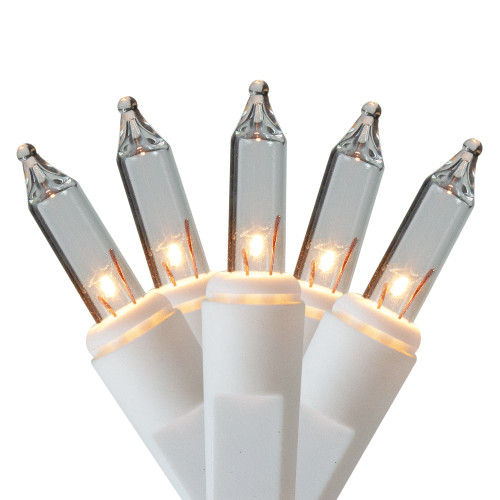 300 Clear Mini Icicle Heavy-Duty Commercial Grade Christmas Lights - 18 ft White Wire - IMAGE 1
