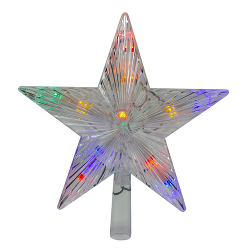 """9.5"""" Lighted Color Changing 5 Point Star Tree Topper - White and Blue LED Lights - IMAGE 1"""