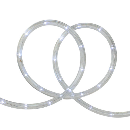 96' White LED Flexible Christmas Rope Light - IMAGE 1