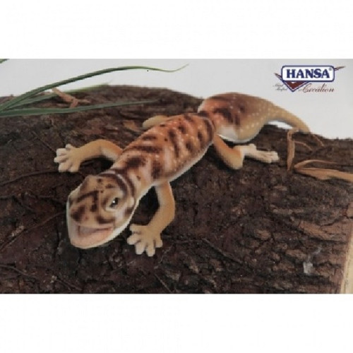 """Set of 6 Handcrafted Brown Gecko Stuffed Animals 10.2"""" - IMAGE 1"""