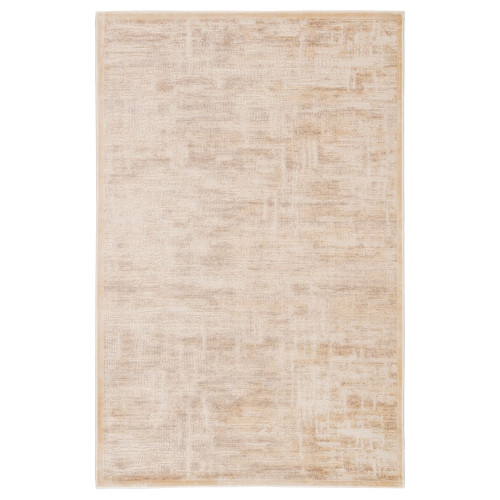 5' x 7.5' Beige and Gray Contemporary Rectangular Area Throw Rug - IMAGE 1