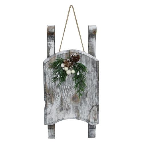 "11"" Gray Weathered Wood Sleigh Christmas Decoration - IMAGE 1"