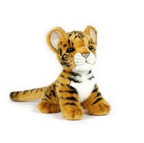 """Set of 4 Handcrafted Tiger Cub Stuffed Animals 6.6"""" - IMAGE 1"""