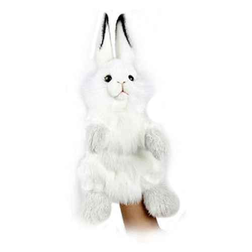 """Set of 3 Handcrafted Bunny Hand Puppet Stuffed Animals 13.25"""" - IMAGE 1"""