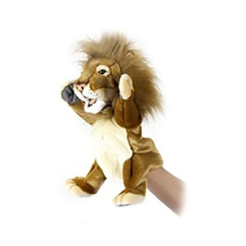 """Set of 3 Handcrafted Lion Hand Puppet Stuffed Animals 10.75"""" - IMAGE 1"""
