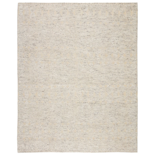 9' x 13' Gray and Beige Hand Knotted Abelle Rectangular Area Throw Rug - IMAGE 1