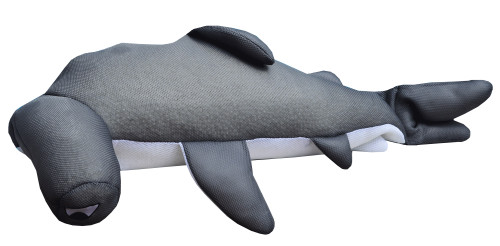 "36"" Nails Seaside Rider Stuffed Floating Hammerhead Shark Swimming Pool Pillow - IMAGE 1"