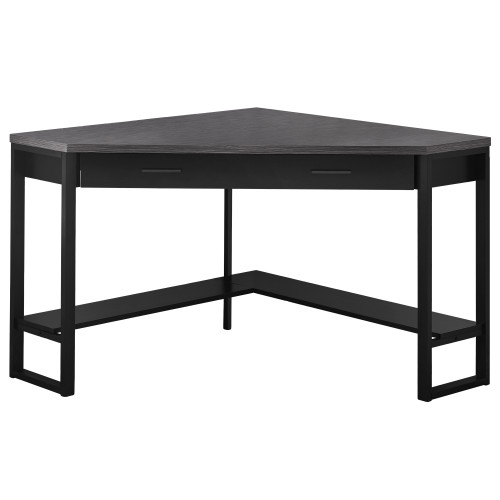 """42"""" Black and Gray L-Shaped Contemporary Computer Desk - IMAGE 1"""