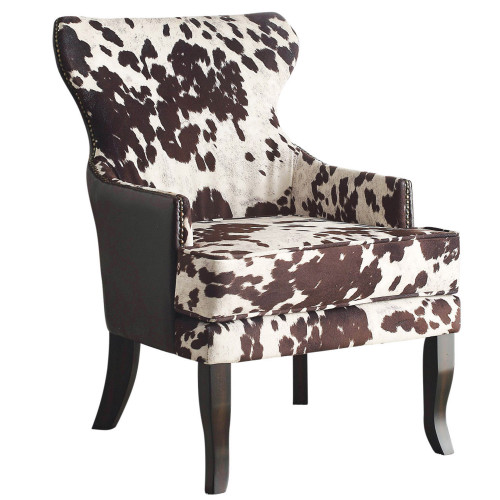 """32"""" Bronze and Brown Oversized Accent Armchair - IMAGE 1"""
