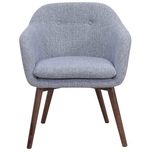 "30"" Gray and Brown Tufted Accent Dining Chair - IMAGE 1"