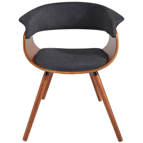 """29"""" Charcoal Gray and Brown Modern Accent Chair - IMAGE 1"""