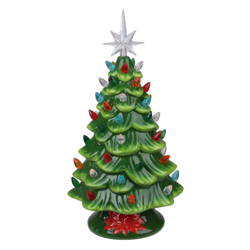 "13"" LED Lighted Retro Table Top Christmas Tree with Star Topper - IMAGE 1"