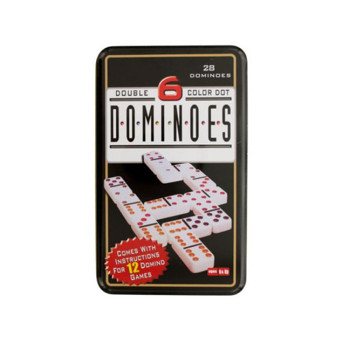 Pack of 4 Black and White Dominoes 28-Piece Game Sets - IMAGE 1