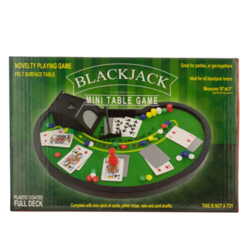 """Pack of 4 Green Blackjack Mini 4-Piece Table Game Sets 10"""" - IMAGE 1"""