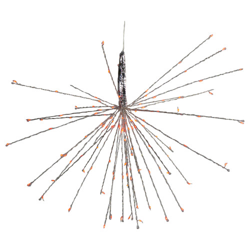 """20"""" LED Lighted Firework Silver Branch Hanging Decor - Red - IMAGE 1"""