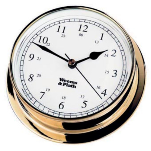 "6"" White and Bronze Traditional Round Shaped Desk Clock - IMAGE 1"
