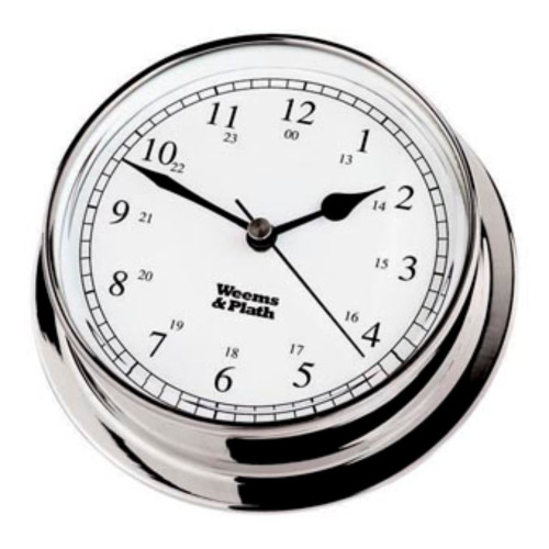 "6"" Silver and White Antique Finish Round Shaped Desk Clock - IMAGE 1"