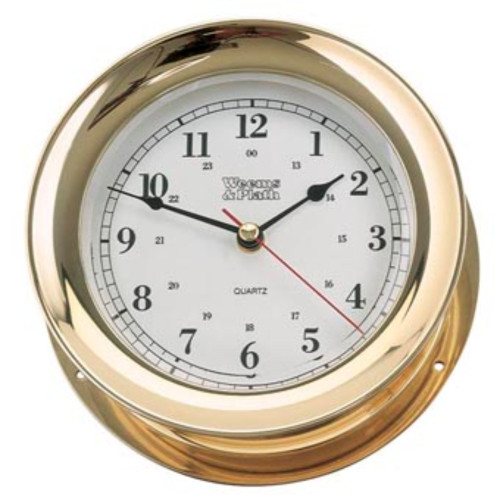 "10"" Gold and White Antique Round Shaped Desk Clock - IMAGE 1"