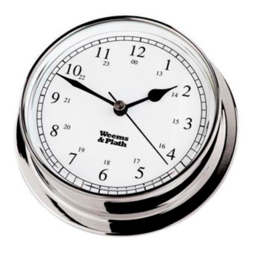 """8"""" Sliver and White Round Battery Operated Wall Clock - IMAGE 1"""