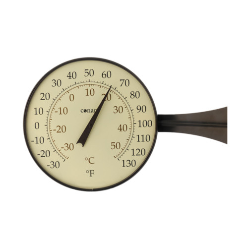 "15"" Bronze and White Round Dial Thermometer with Scales - IMAGE 1"