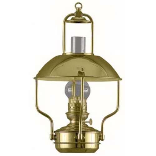 """18"""" Gold and Clear Traditional Oil Clipper Lamp - IMAGE 1"""