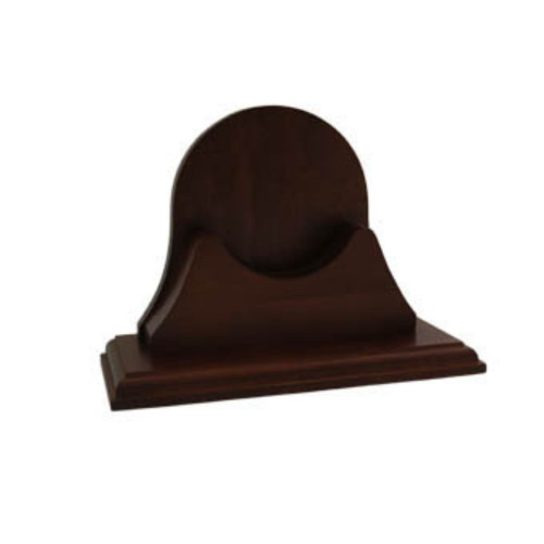 "9"" Chocolate Brown Single Mahogany Finished Base - IMAGE 1"