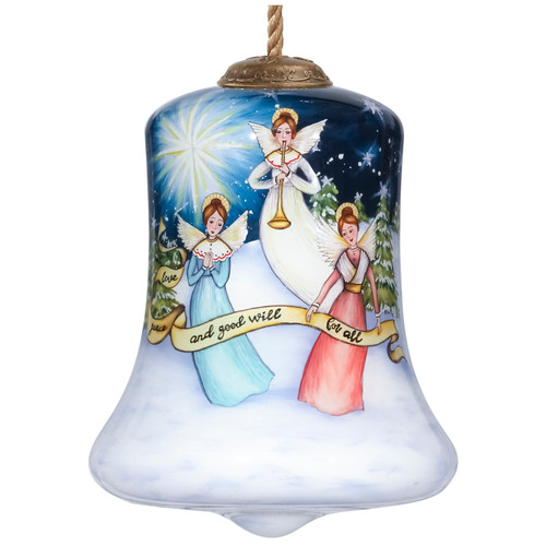 """3.5"""" Love, Peace and Good Will for All Angel Christmas Ornament - IMAGE 1"""