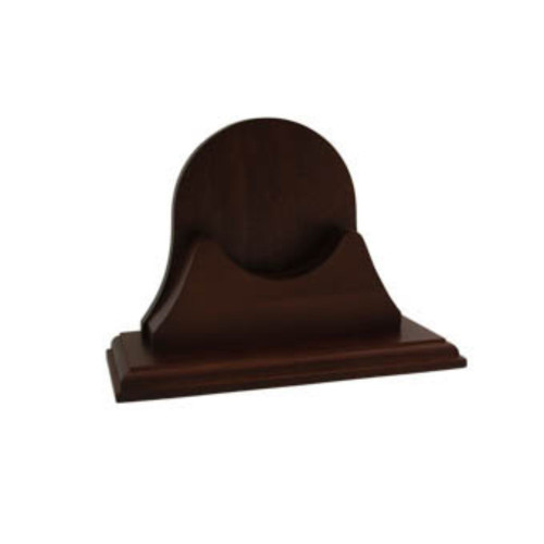 "10"" Black Contemporary Single Mahogany Base for Endurance - IMAGE 1"