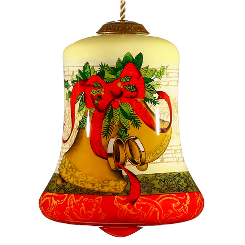 """3.5"""" Bell Shape Our First Christmas Wedding Ornament - IMAGE 1"""