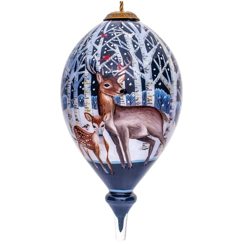 """6"""" Where Peace Resides Christmas Glass Ornament - IMAGE 1"""