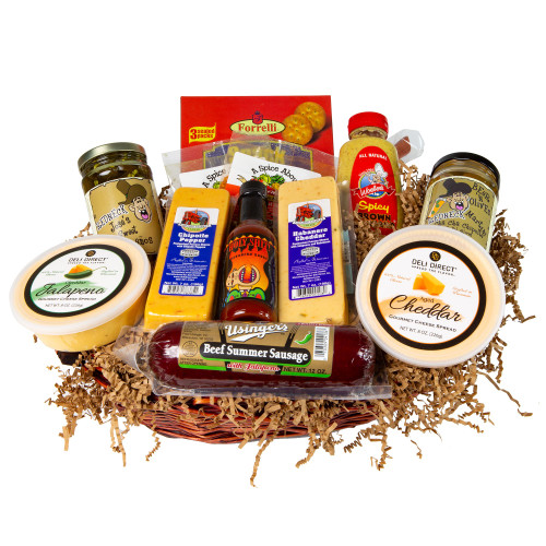 13pc Hot Spicy Wisconsin Sausage and Cheese Gift Pack - IMAGE 1