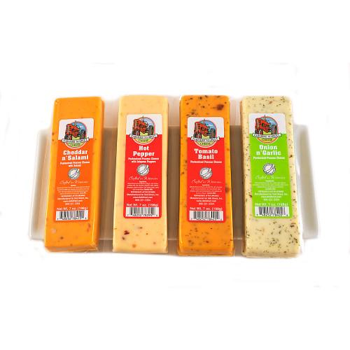 4ct Green Farmers Market Variety Cheese Block 7 oz. - IMAGE 1