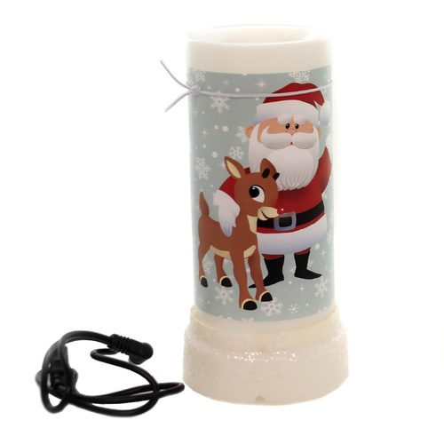 """7"""" Rudolph The Red Nose Reindeer USB Christmas Projector Candle - IMAGE 1"""
