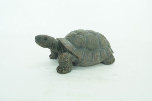 """10"""" Green and Brown Realistic Replica Turtle Outdoor Garden Statue - IMAGE 1"""