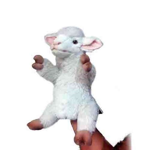 "Set of 3 Handcrafted Lamb Hand Puppet Stuffed Animals 11"" - IMAGE 1"