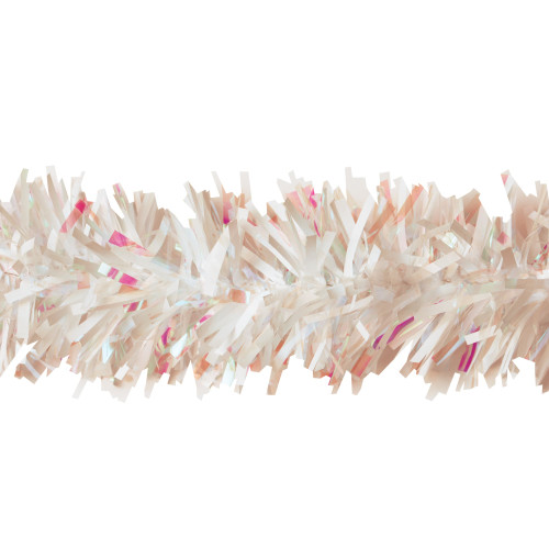 25' White and Pink Novelty Christmas Twist Garland - IMAGE 1