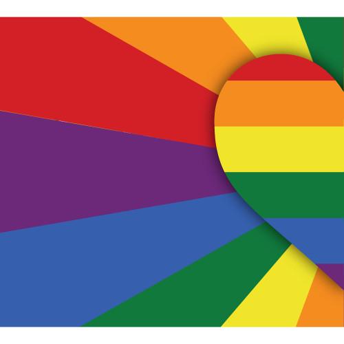 7' x 8' Red and Yellow Pride LGBT Outdoor Split Car Garage Door Banner - IMAGE 1