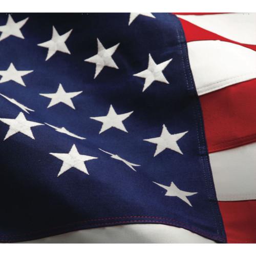 7' x 8' Blue and White Patriotic Split Car Garage Door Banner - IMAGE 1