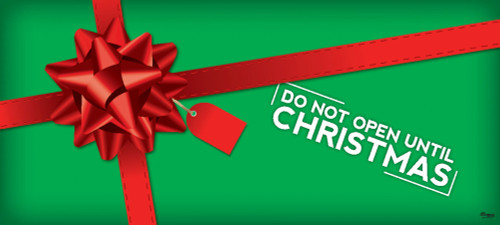 7' x 16' Red and Green Christmas Double Car Garage Door Banner - IMAGE 1