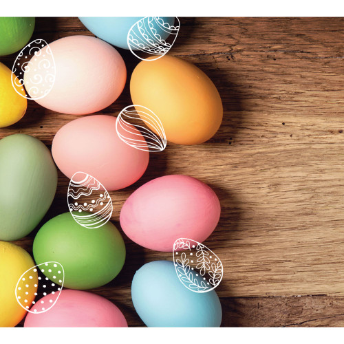 7' x 8' Brown and Pink Easter Eggs Split Car Garage Door Banner - IMAGE 1