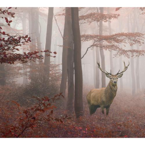 7' x 8' Brown Deer in the Woods Split Car Garage Door Banner - IMAGE 1