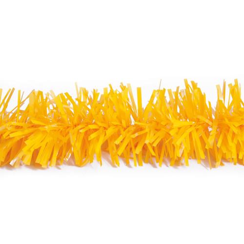 25' Yellow Metallic Twist Novelty Christmas Garland - IMAGE 1
